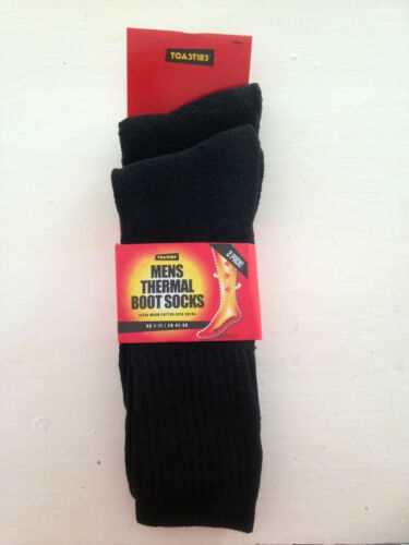Mens THERMAL Hiking WALKING BOOT SOCKS,Size 7-11 TWO PAIR PACK!
