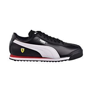 Puma Sf Roma Ferrari Mens Shoes Black White 306083 10 Ebay