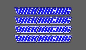speed star RWB work Volk racing GTC decals Stickers x4 Rays