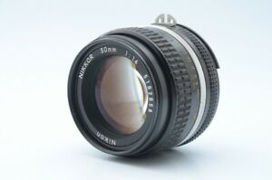 Excellent-Nikon-Nikkor-Ai-S-50mm-F1-4-Lens-w-Hood-SN-5182856-from-Japan
