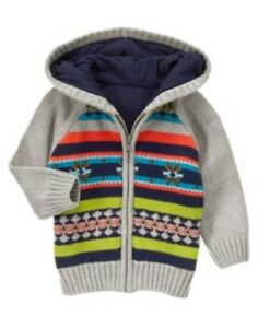 GYMBOREE SNOW CHILLIN/' NAVY SNOWMAN FLEECE HOODIE JACKET3 6 12 24 2 3T 4T 5T NWT