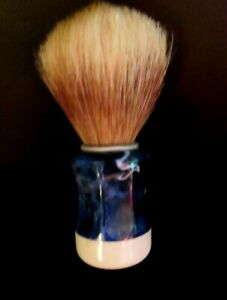 Vintage-gt-Blue-Marbelized-Handle-Base-DELUXE-NAT-039-L-BOAR-HAIR-MEN-039-S-SHAVING-BRUSH