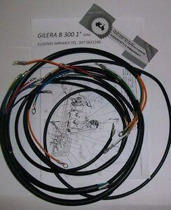 IMPIANTO-ELETTRICO-ELECTRICAL-WIRING-MOTO-GILERA-B-300-1-s-CON-SCHEMA-ELETTRICO