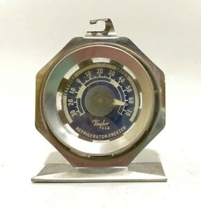 Refrigerator-Freezer-Food-Thermometer-Gauge-Taylor-Made-in-USA-Stainless-3-034-Vtg