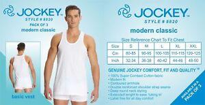 3 Pack Jockey Men Modern Classic White Basic Undershirt Style 8820