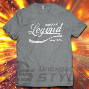Image Is Loading 18th BIRTHDAY Legend Since 2000 T Shirt Present