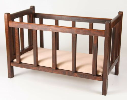 AMERICAN GIRL DOLL SIZE FURNITURE WOODEN CRIB//BED 4-7 years