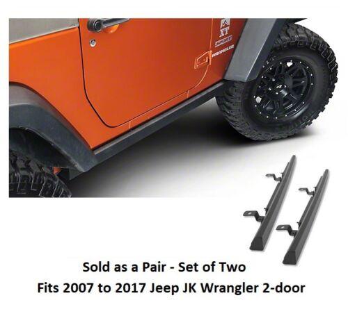 Jeep SRC Classic Boxed Design Rock Rails for 07-17 Jeep Wrangler 2-door