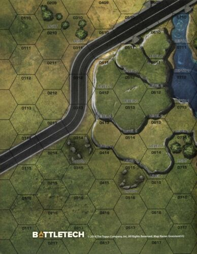 Desert #3 Full-Color Double-Sided Paper Map BattleTech Grasslands 18 x 22
