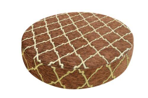 "2/""Thick-Round Box Shape Cover*Rhombus Chenille Chair Seat Cushion Case*Wk6"