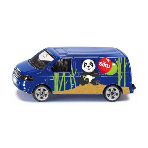 "° Siku 1338 VW T5 Transporter blau /""Siku Panda/"" Werbemodell Modellauto NEU"