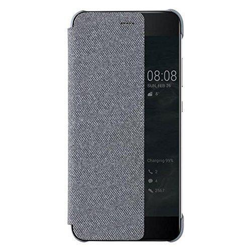 the latest da717 c5e96 100 Genuine Smart View Window Flip Case Cover for Huawei P10 Plus Grey