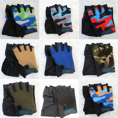 1 Pair Half Finger Gloves Rock Climbing Motorcycle Outdoor Sports Accessories