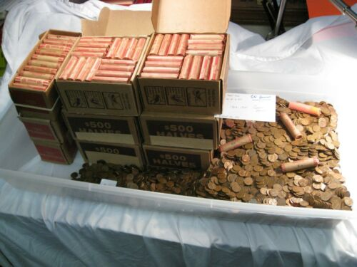 CU Copper Hoard. $25.00 2500 about 17 lbs Copper US LINCOLN Pennies 1959-81