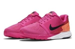 official photos 9a9c2 840c7 Image is loading New-Nike-Lunarglide-7-VII-GS-Orange-Pink-