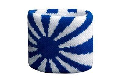 Schweißband Fahne Flagge Karo Blau-Schwarz 7x8cm Armband für Sport