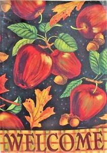 Autumn Apples Garden Flag by Breeze Art #2655 Welcome