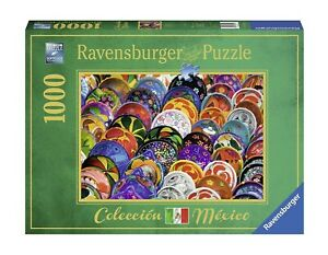 "NEW RAVENSBURGER Jigsaw Puzzle 1000 Pieces Tiles ""Colorful Plates"""