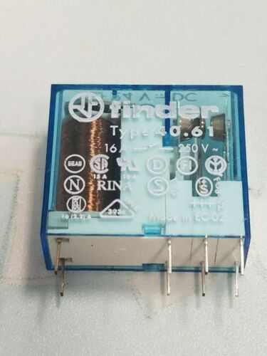 Finder Type 40.61.7.024.0000  24V DC Power Relay 16A 250VAC 8 Pins