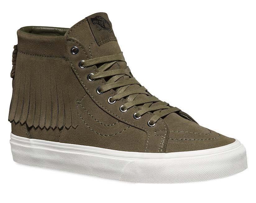 VANS SK8 Hi Moc (Suede) Ivy Green/Blanc de Blanc Skate Schuhes WOMEN'S 9.5