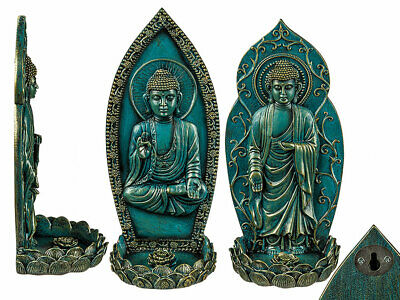 Sonderabschnitt Räucherstäbchenhalter 9,5x21cm Statue Thai Buddha Meditation Feng Shui Figur Feine Verarbeitung