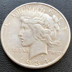 USA-1934-S-Peace-Dollar-1-Silber-Selten-23197