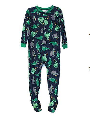 Toddler Boy/'s Fire Breathing Dragons Polyester Jersey Footed Pajama Sleeper