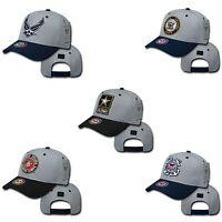 Military Air Force Navy Coast Guard Army Marines Workout Baseball Hats Cap Caps