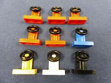 LEGO ERSATZSTEINE  6 Stk blau Lenkräder
