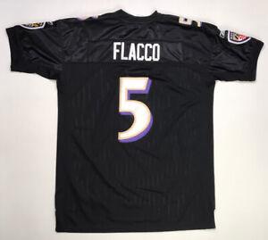 Details about Reebok Baltimore Ravens Joe Flacco 5 Jersey Men Adult Sz 52 Black Authentic NFL