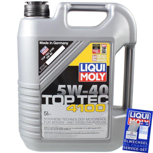 5 Litros Liqui Moly 3701 Top Tec 4100 5w-40 Aceite de Motor Engie Oil