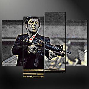 Tony Montana Movie Print *VARIOUS SIZES* SCARFACE CANVAS WALL ART