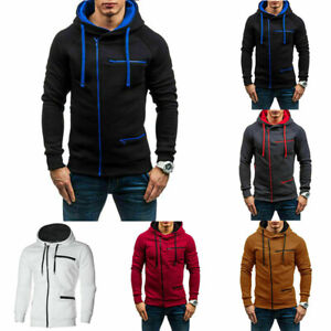 Men-039-s-Warm-Hoodie-Hooded-Coat-Outwear-Jumper-Winter-Sweater-Sweatshirt-Jacket