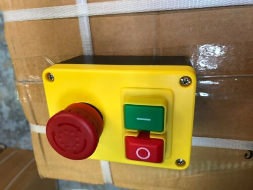 Woodturning Woodworking No Volt Release Switch NVR Stand Alone Switch with emer.