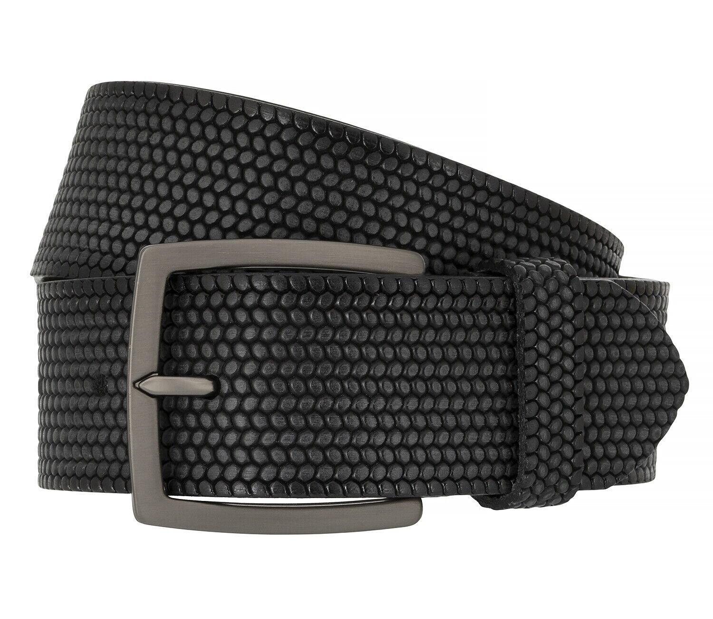 Alberto Men's Belt Belt Leather Belt Black 8709