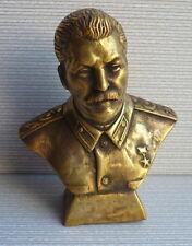 Soviet Russian communist STALIN bust statue Lenin H=11