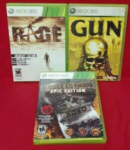 Bulletstorm, Gun, Rage Anarchy - XBOX 360 Game Lot Tested / Working