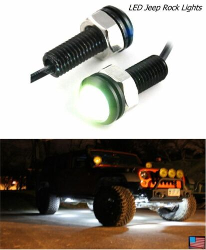 2 Pack Clear INNER FENDER WHEEL WELL LED Light Universal Custom JEEP POLARIS RZ