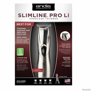 Andis-Slimline-Pro-Li-Cordless-Lightweight-Trimmer-CL-32400-Model-D-8-New-120V