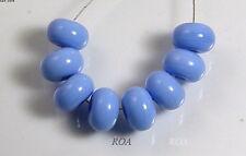 ROA Lampwork 8 Opaque Periwinkle 5x10 mm Handmade Spacer Art Glass Beads SRA