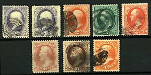 USA-1870-81-range-of-Presidential-portraits-with-reissues-to-include-3c-r-Stamps