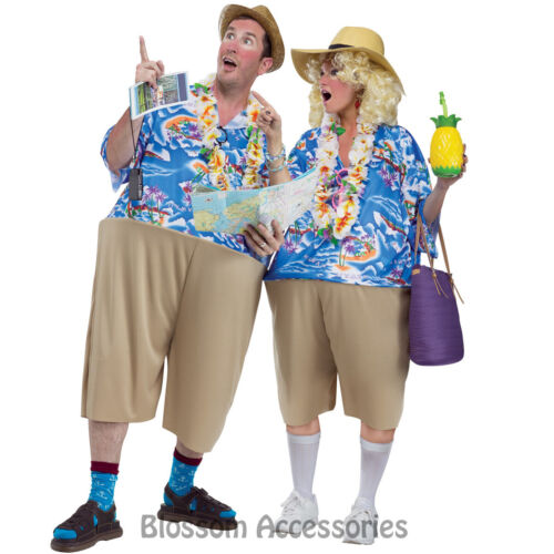 CL758 Tacky Traveller Tourist Funny Unisex Beach Hawaiian T-Shirt Fancy Costume