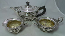 Antique Silver Batchelors Tea Set William Hutton & Sons London 1901 591g