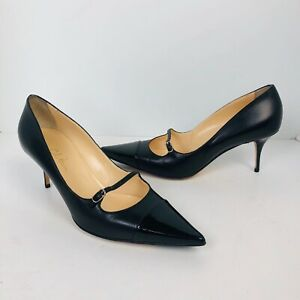 10 Pointed cap Toe Heels buckle shoes