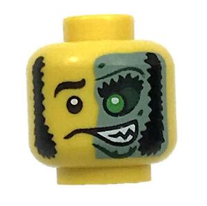 LEGO NEW YELLOWISH GREEN MINIFIGURE LEGS PANTS SKELETON PATTERN HALLOWEEN PART