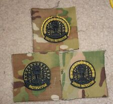 U.S. ARMY INSTRUCTOR BADGE, NEWLY AUTHORIZED, SEWN CLOTH ON MULTICAM, SET OF 3