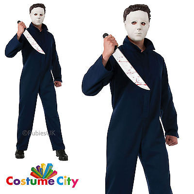 Adult Mens Official Michael Myers Halloween Movie Fancy Dress Party Costume