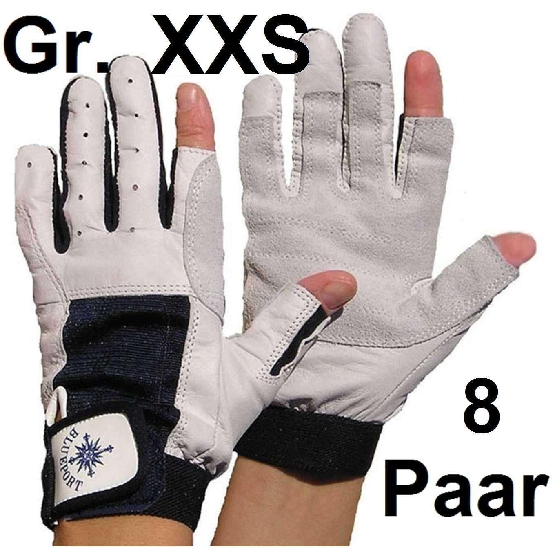 8 x Ziegenleder Handschuhe XXS (5) mit Finger Rigginghandschuhe Roadiehandschuhe