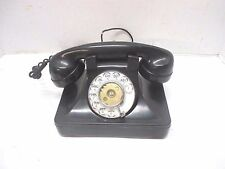 Vtg. North Electric Rotary Dial Telephone Galion Ohio Black Desk Phone Bakelite
