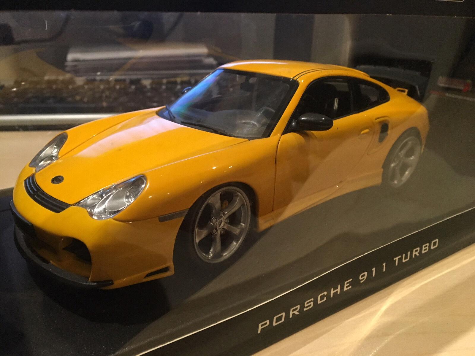 1 18 Auto Pro Shop - PORSCHE 911 GT Street XL Techart - gelb mit OVP